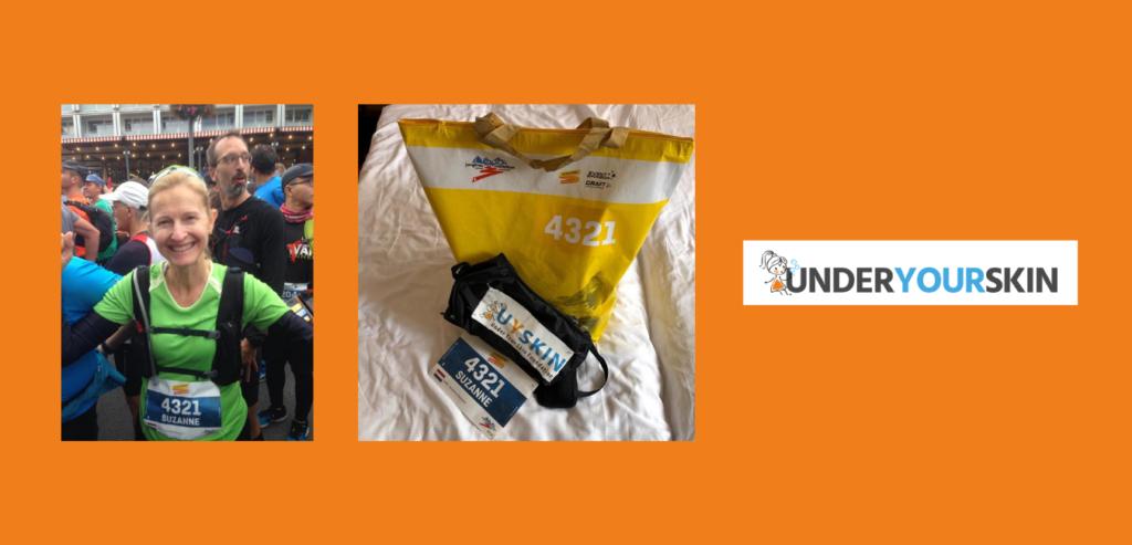 Junfrau Marathon Suzanne Pasmans voor Under Your Skin Foundation
