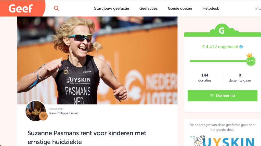 Kustmarathon Suzanne Pasmans voor Under Your Skin Foundation